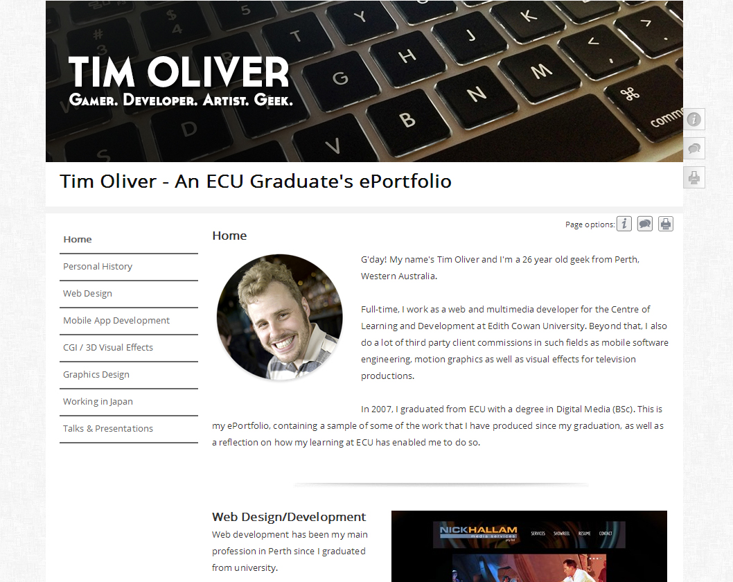 The Pebblepad Portfolio Competition Tim Oliver