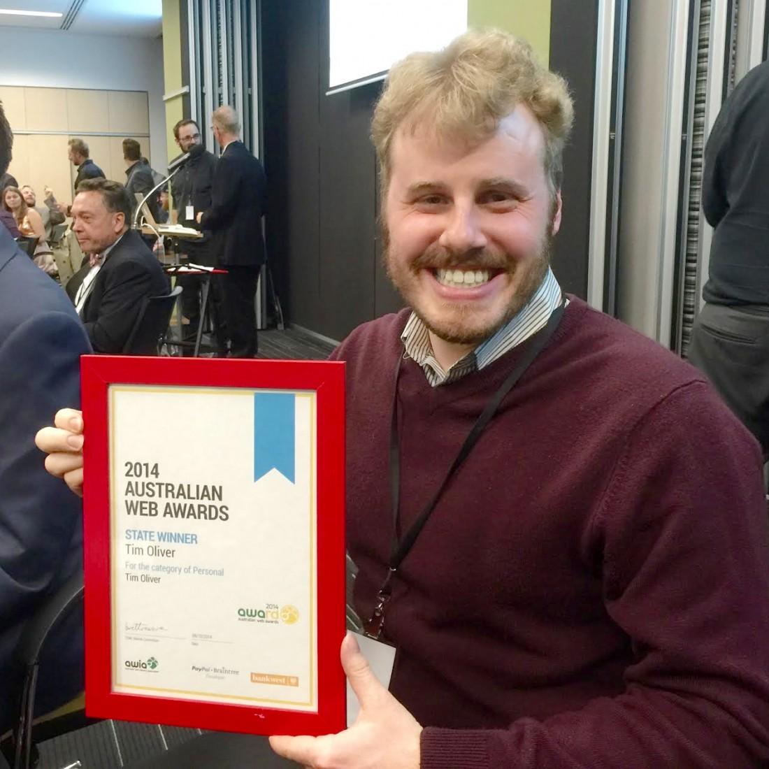 Tim Oliver Web Award