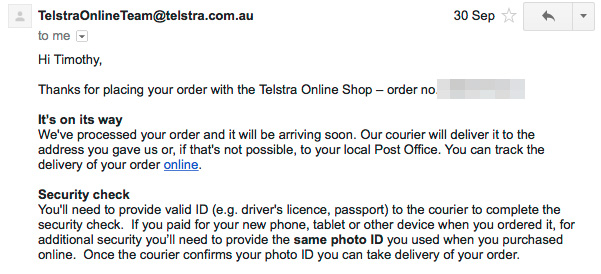 TelstraDeliveryEmail